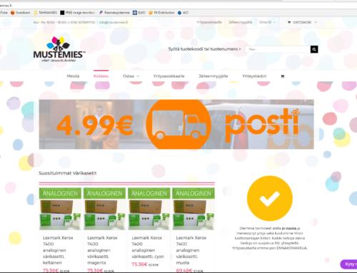 Veebilehe Mustemies.fi uuendus