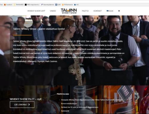 Veebileht Tallinn Whisky Show'le